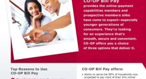CO-OP Bill Pay Slipsheet