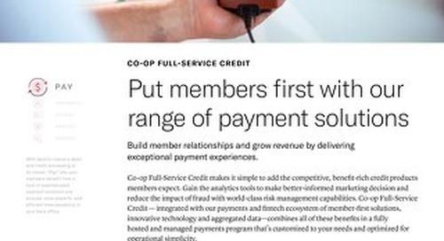CO-OP Full Service Credit Slipsheet