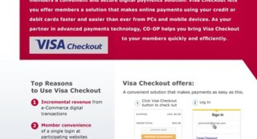 Visa Checkout Slipsheet