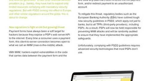 Datasheet: API Protection for PSPs