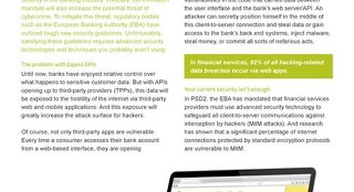 Datasheet: API Protection for banks