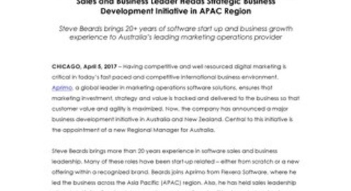 Aprimo Appoints New Regional Manager for Australia
