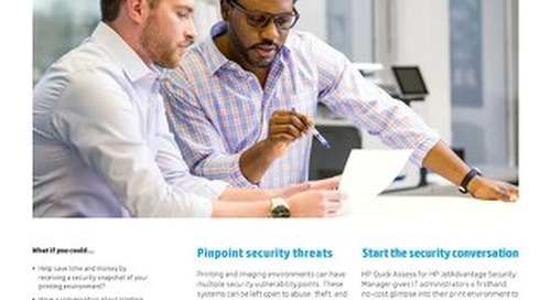 HP: Identify risks to help secure your print environment