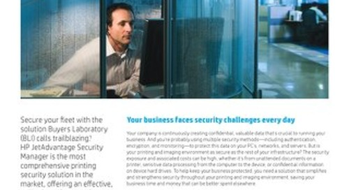 HP JetAdvantage Security Manager: Protect Your Print Fleet