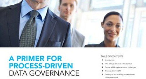 Primer for process-driven data governance