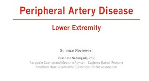 Lower Extremity Peripheral Artery Disease