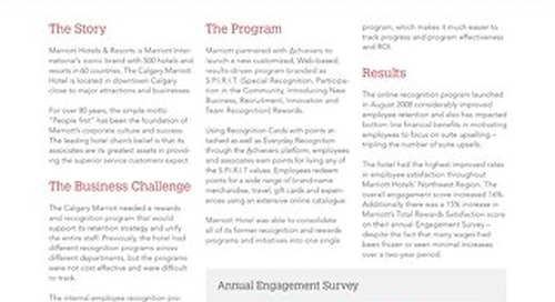 Marriott - Achievers Customer Story