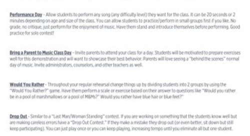 Keeping Your Students Engaged at the End of the Year Handout