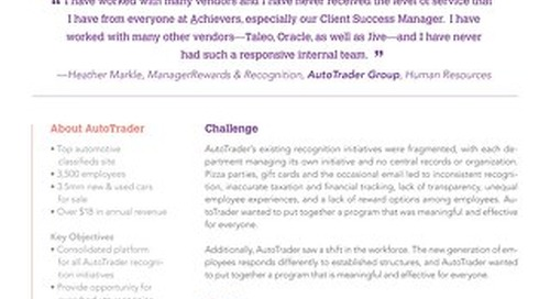 AutoTrader - Achievers Customer Story