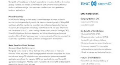 MongoDB and EMC XtremIO