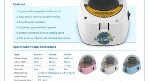 [Flyer] NuAire Mini-Centrifuges