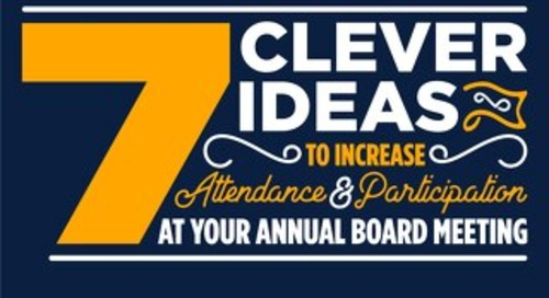 7 Clever Ideas for Annual Meeting Participation
