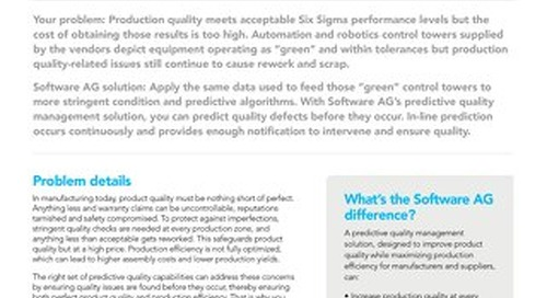 Predictive Quality Solution brief