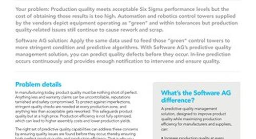 Predictive Quality Solution brief