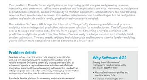 Predictive Maintenance Solution brief