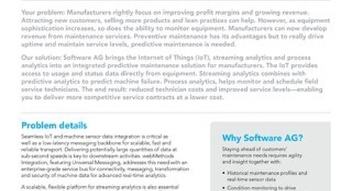 Predictive Maintenance Solution brief