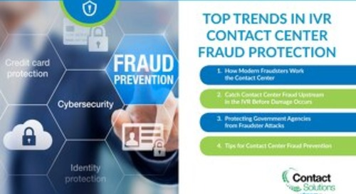 Top Trends in IVR Contact Center Fraud Protection
