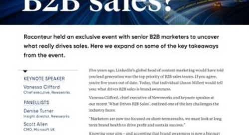 What drives B2B sales
