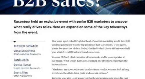 What drives B2B sales