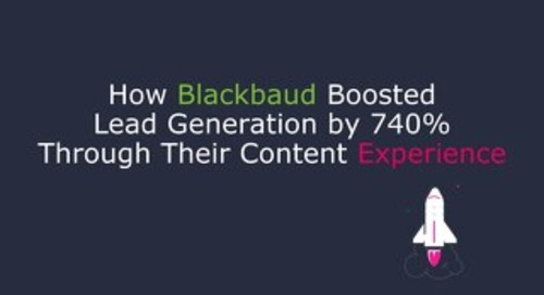 How Blackbaud Boosted Lead Generation by 740% Through Their Content Experience