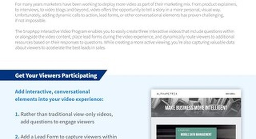 Programs: Interactive Video Overview