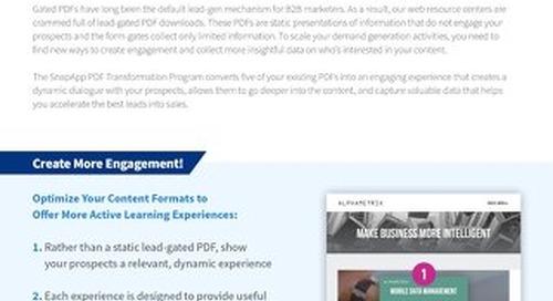 Programs: PDF Transformation Overview