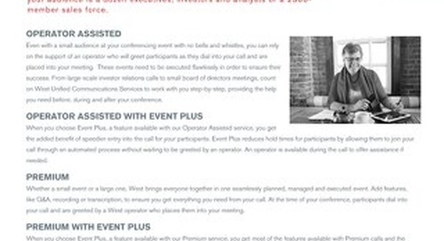 Event Audio Solutions Overview