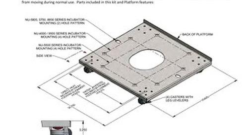 [Instructions] NU-1582 Mobile Platform for CO2 Incubators