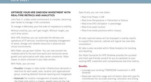 Nlyte for HPE OneView Data Sheet