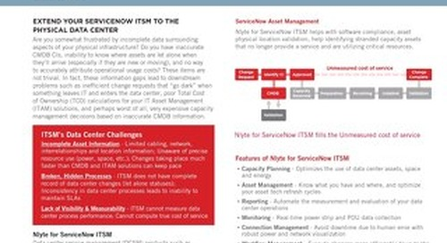 Nlyte for ServiceNow ITSM Data Sheet