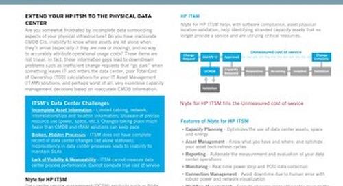 Nlyte for HP ITSM Data Sheet