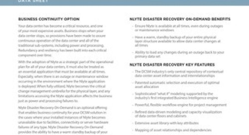 Nlyte_Disaster_Recovery_On_Demand_Data_Sheet12.12.17