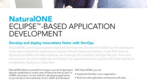 NaturalONE Eclipse™-based Application Development