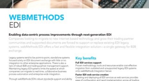 Get the facts about webMethods EDI