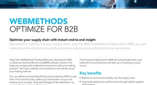 webMethods: Optimize for B2B