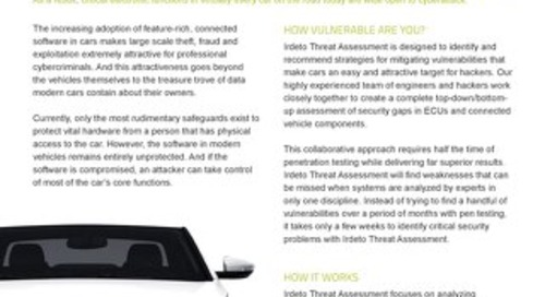 Solution overview: Automotive Threat Assessment Services