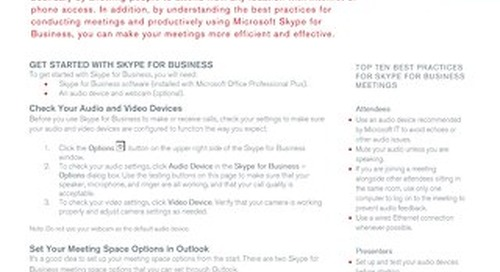 Successful Meetings with Skype for Business