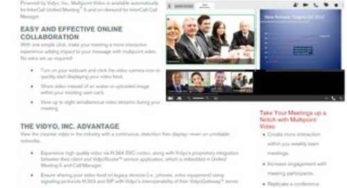 Unified Meeting 5 and Call Manager - Multipoint Video Overview