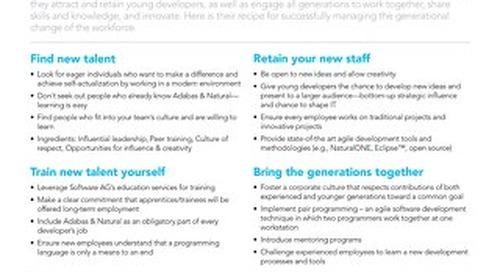 Managing generational change