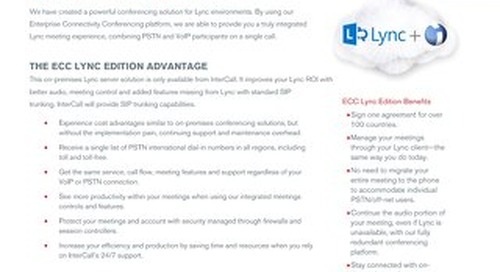 ECC Lync Edition Overview