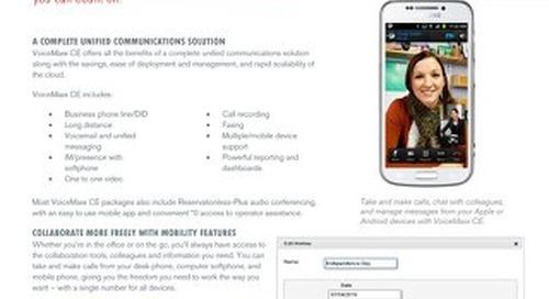 VoiceMaxx CE Overview