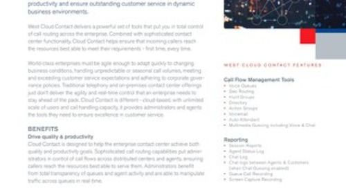 West Cloud Contact Overview (formerly known as ControlMaxx)