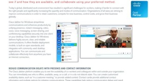 Cisco Jabber Overview