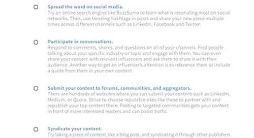 Marketing Fit Promotion Checklist