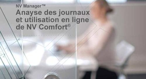 NV Manager™ - Anayse des journaux et utilisation en ligne de NV Comfort®