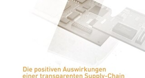 Die positiven Auswirkungen einer transparenten Supply-Chain auf das 'Design-to-Cost