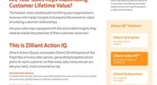 Zilliant ActionIQ