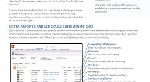 Zilliant Sales IQ: Sales Intelligence Tool