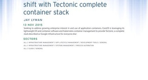 CoreOS Responds to Container Shift With Tectonic Complete Container Stack