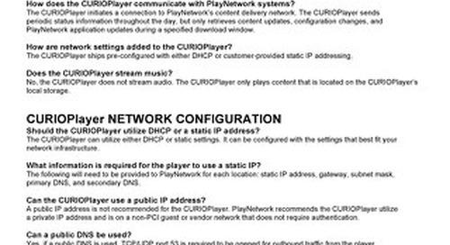 PlayNetwork CURIOPlayerX5 FAQ